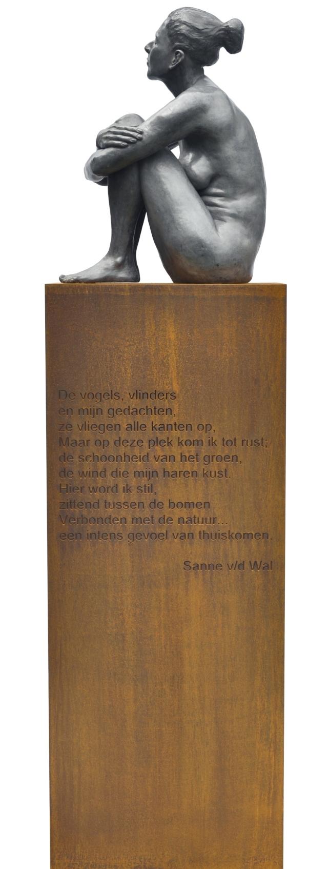 Bronzen beeld Sannekopie