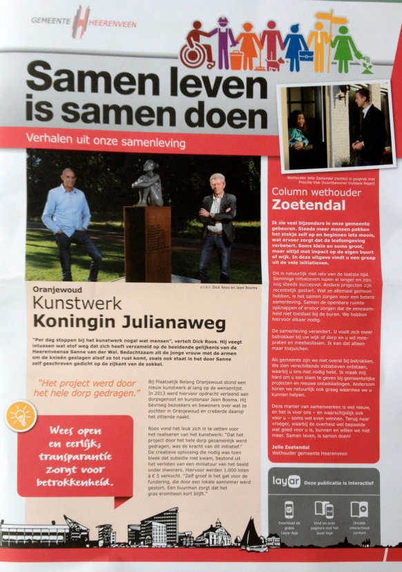 Kunstwerk Koningin Julianaweg Oranjewoud