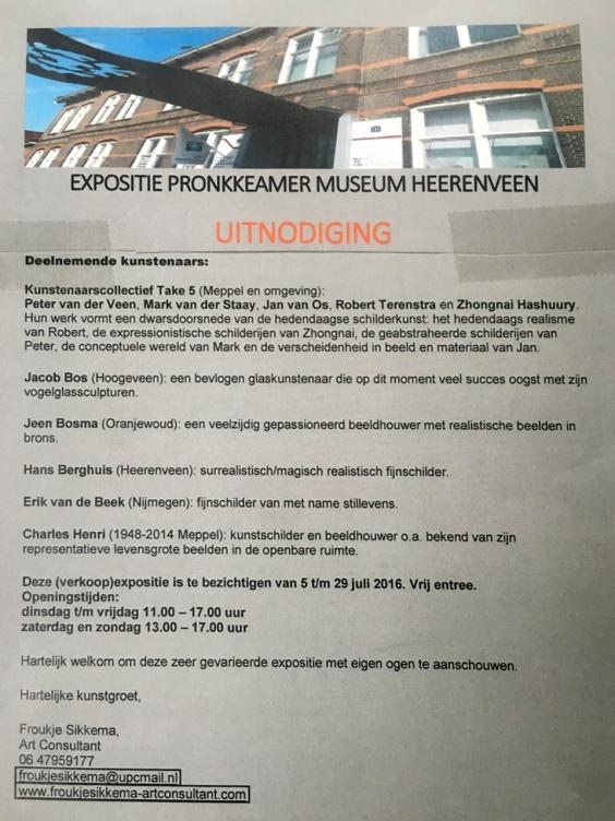 Expositie pronkkeamer museum Heerenveen